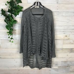 Grace & Lace Gray Two Fit Sweater or Cardigan